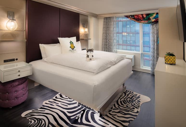 สเตย์ไพน์แอปเปิ้ล แอน อาร์ตฟุลโฮเทล มิดทาวน์, นิวยอร์ก, ห้องพัก, เตียงคิงไซส์ 1 เตียง (Glamour), ห้องพัก