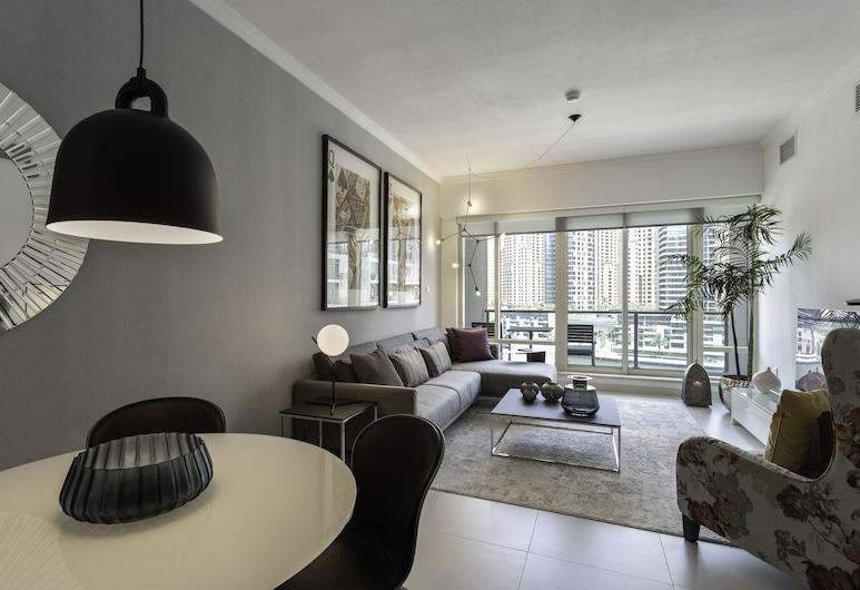 One Perfect Stay - Al Majara 3, Dubai, Lägenhet - 1 sovrum, Vardagsrum