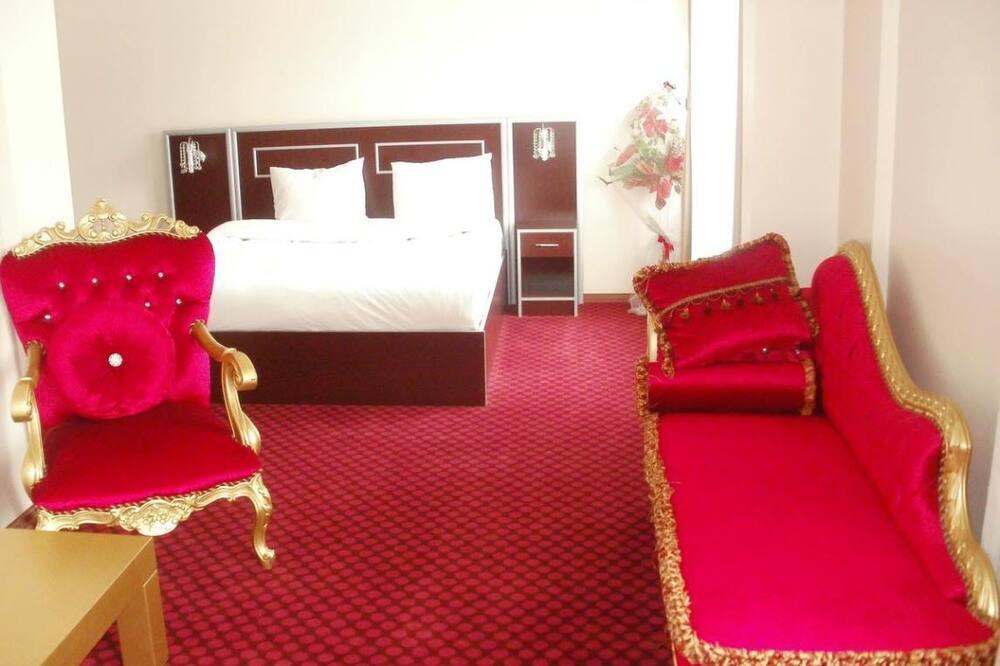 Studijas tipa luksusa numurs, viena guļamistaba, skats uz pilsētu - Dzīvojamā zona