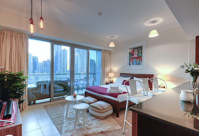 One Perfect Stay - 8 Boulevard Tower, Dubai, Lyxstudio - 1 kingsize-säng, Rum