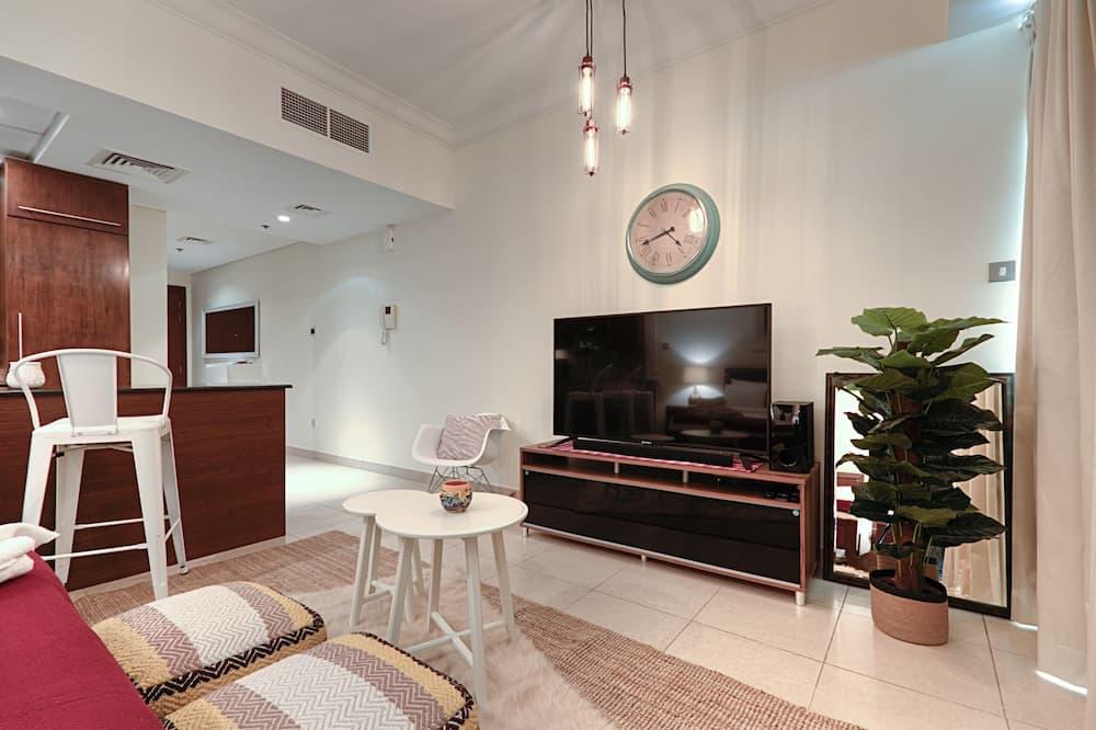 Luxury-Apartment, 1King-Bett, Stadtblick, Executive-Etage - Wohnbereich