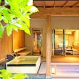 Prabangaus stiliaus kambarys, atskiras vonios kambarys (Japanese Western Style, Open-air Bath) - Svečių kambarys
