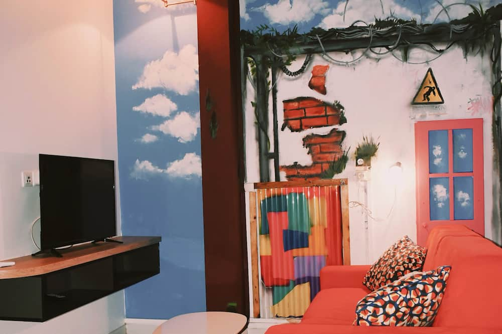 ซิตี้อพาร์ทเมนท์, เตียงใหญ่ 1 เตียง, ปลอดบุหรี่ - พื้นที่นั่งเล่น
