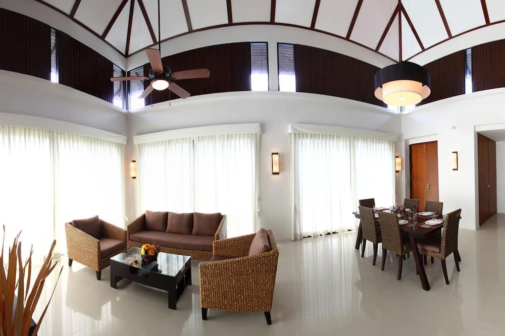 Familie villa, 3 slaapkamers, uitzicht op zwembad - Woonruimte