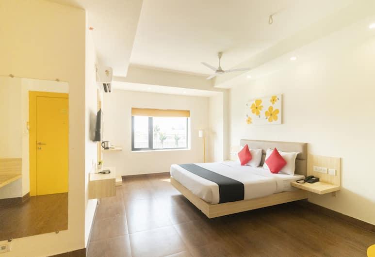 OYO 16340 Yellow Hotels, Puri, Pokój dwuosobowy z 1 lub 2 łóżkami typu Deluxe, Łóżko king, Pokój