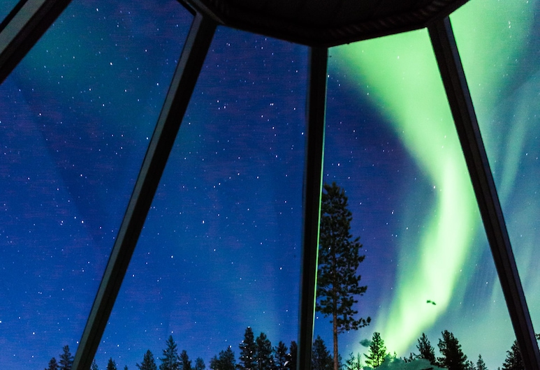 Levi Northern Lights Huts, Kittilä, Panoramic-huvila, 2 yhden hengen sänkyä, Näkymä huoneesta