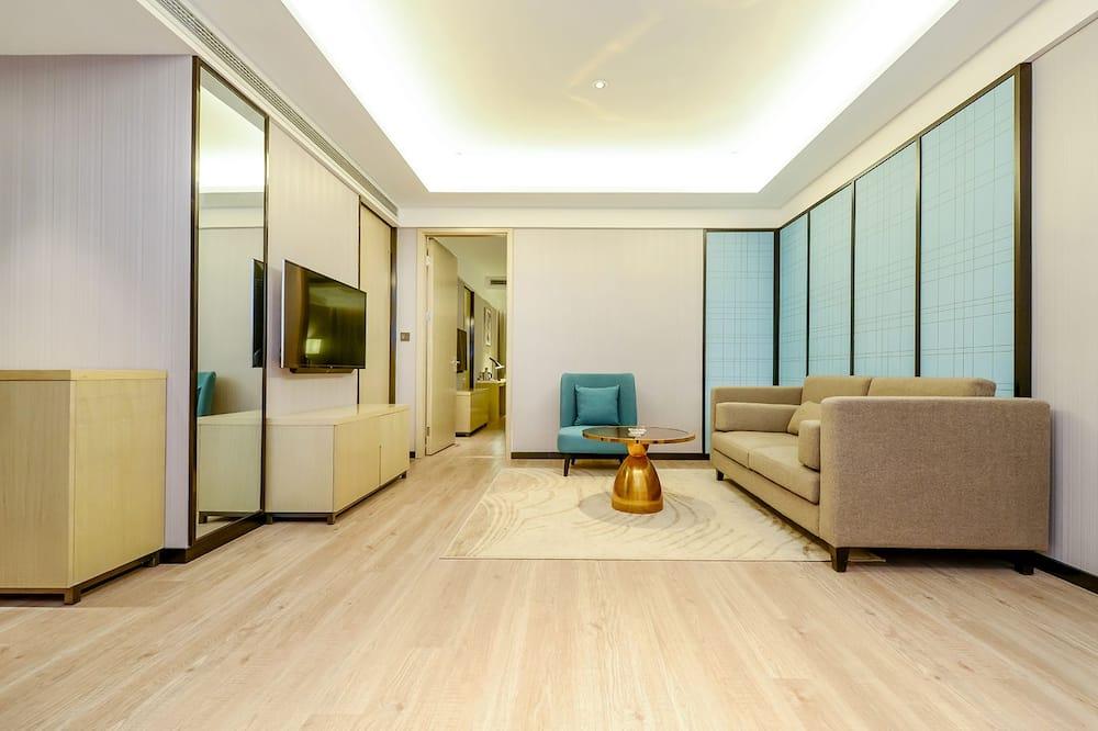 Dvivietis kambarys (2 viengulės lovos) (Yiguan) - Svetainė