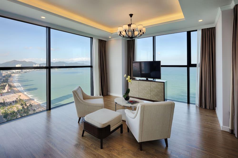 頂級開放式客房, 海景 (VinWonders Access) - 客廳
