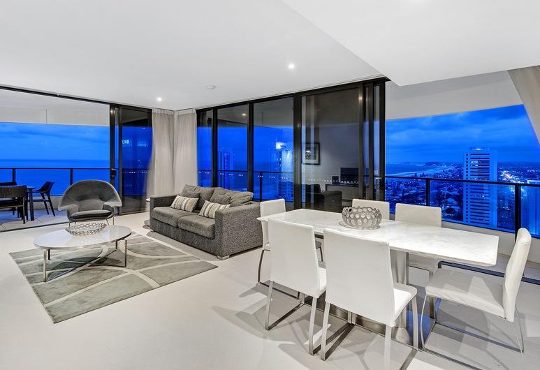 أوراكل بولوفارد - برايفت أبارتمنتس, برودبيتش, شقة فاخرة - غرفتا نوم - بحمامين - بمنظر للبحر, منطقة المعيشة
