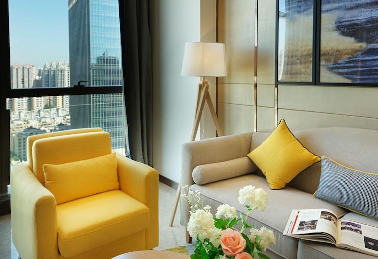 Royal Star Apartment Central City Branch, Guangzhou, Superior-Maisonette, 1 Queen-Bett, Zimmer