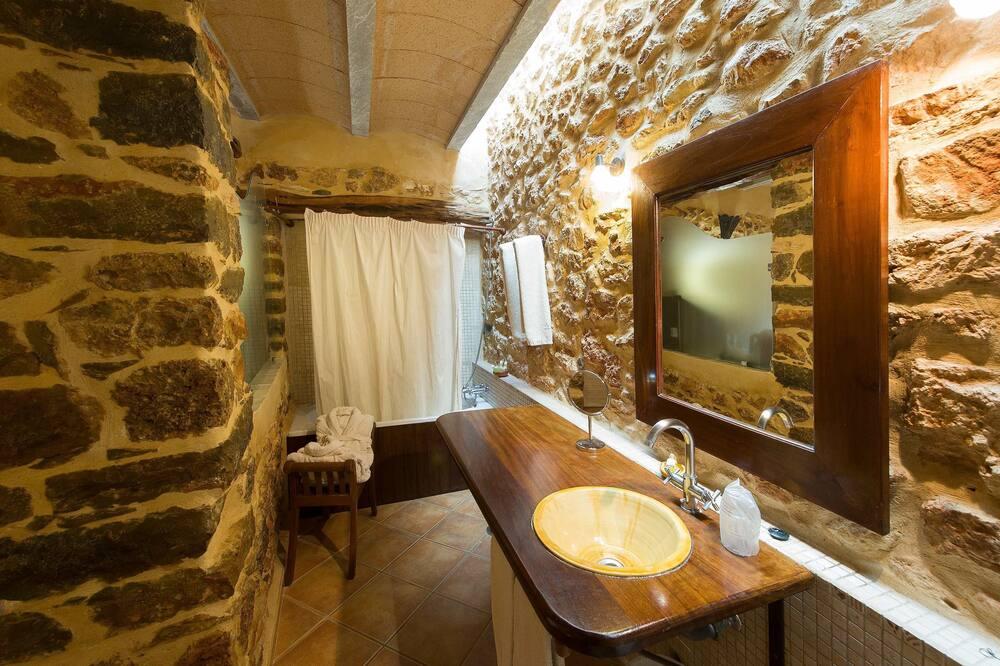 Tweepersoonskamer, voor 1 persoon, terras - Badkamer