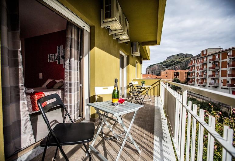 B&B Pepito, Cefalù, Dobbeltrom, balkong, utsikt mot sjø, Balkong