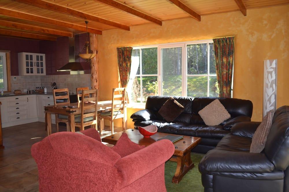 Cottage Eksklusif, 2 kamar tidur, ensuite (Strawbale) - Ruang Keluarga