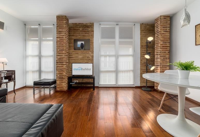 Apartamento Travel Habitat Na Jordana, Valencia, Leilighet, 1 soverom, balkong, utsikt mot byen, Stue