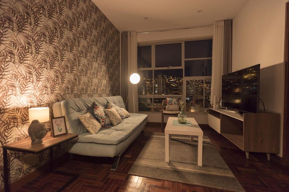 Deluxe apartman, 1 hálószobával, kilátással a városra - Nappali rész