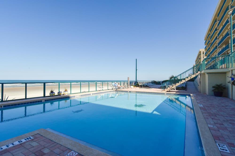 Apartamento em Condomínio Fechado, 2 Quartos, Piscina Privativa, Vista Praia (Ponce Vista) - Piscina Exterior