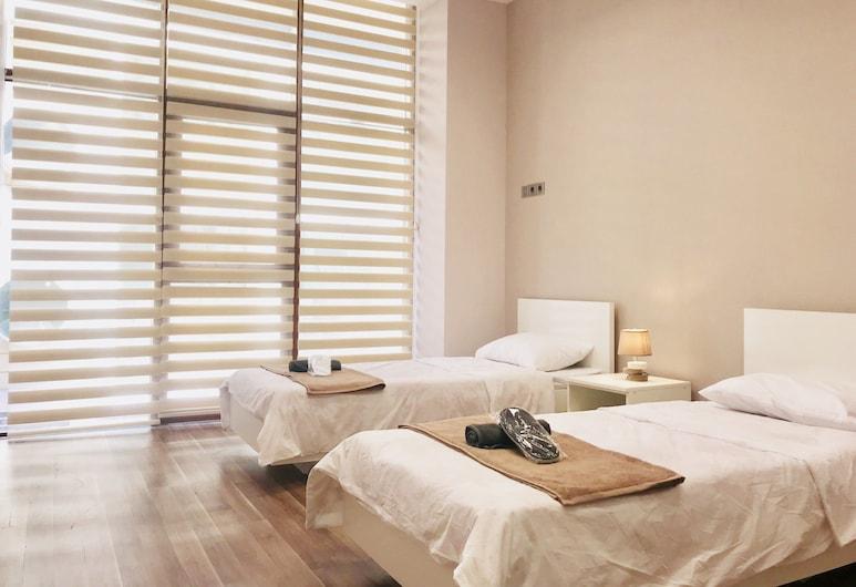 Check-in Baku Hotel & Hostel, Baku, Deluxe Twin kamer, 2 eenpersoonsbedden (Private External Bathroom), Uitzicht vanaf kamer