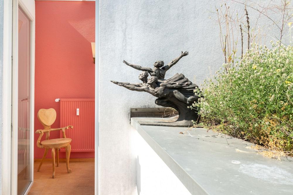 Studiové apartmá typu Exclusive, dvojlůžko (200 cm) a rozkládací pohovka, nekuřácký - Balkón