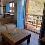 شقة - غرفة نوم واحدة - بشرفة - منظر للجبل (La Merica) - غرفة معيشة