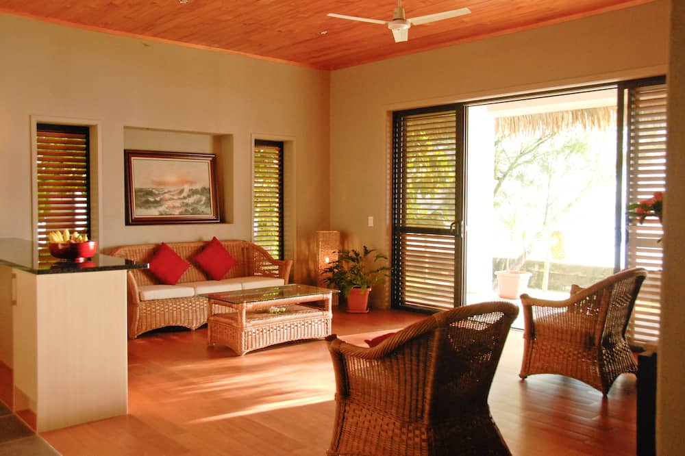 Premium villa, 1 kingsize bed, niet-roken - Woonkamer