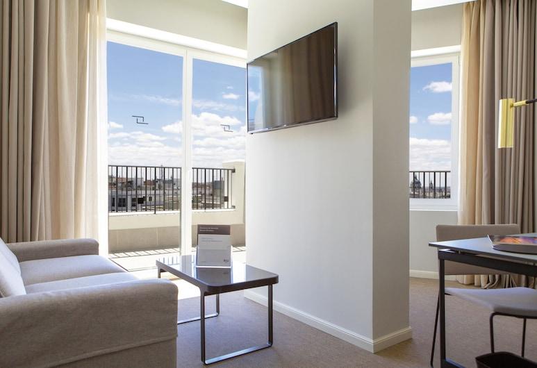 Hotel Riu Plaza España, Madrid, Suite Junior, terrasse, Vue depuis la chambre