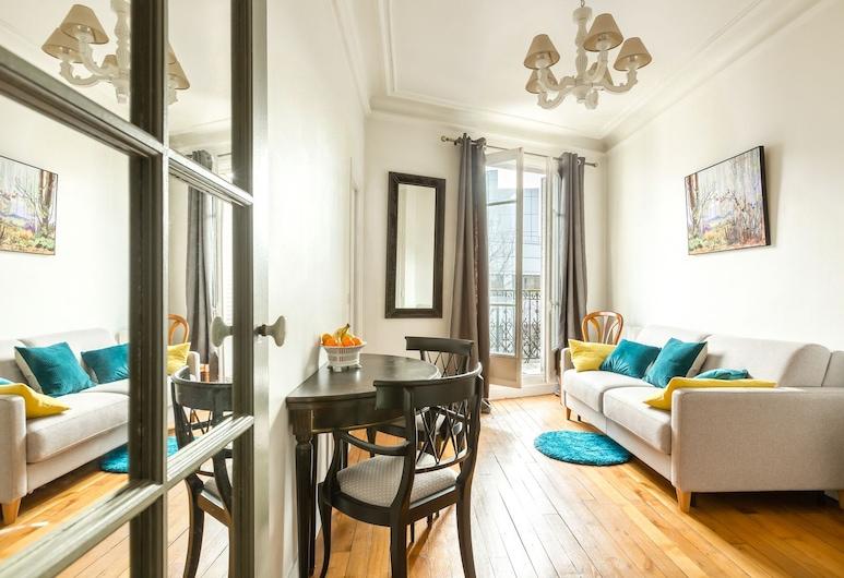 甘必大舒適酒店, 巴黎, 公寓, 1 間臥室, 客廳