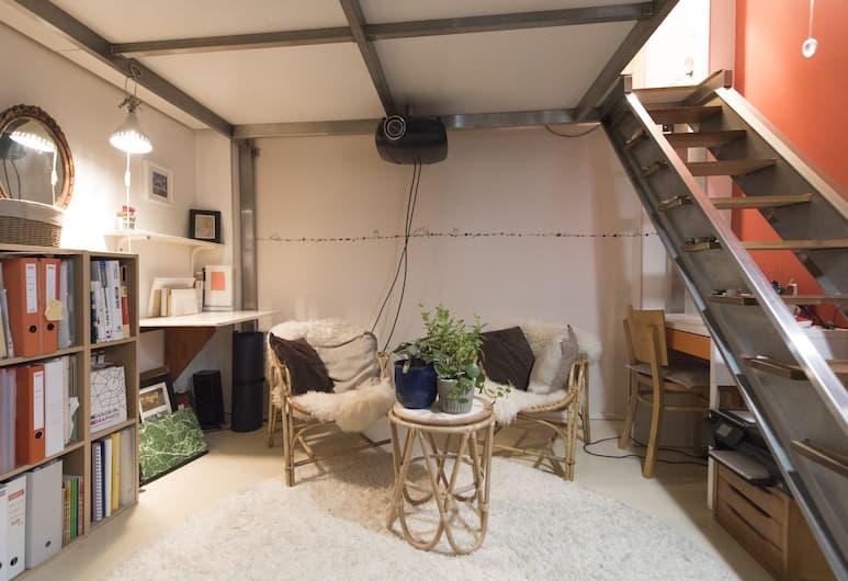 巴士底特色隱避飯店, 巴黎, 公寓, 1 間臥室, 客廳