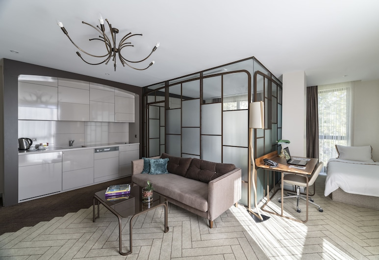 Upsuites Hotel, Istanbul, Executive-suite - 1 soveværelse - køkken, Opholdsområde