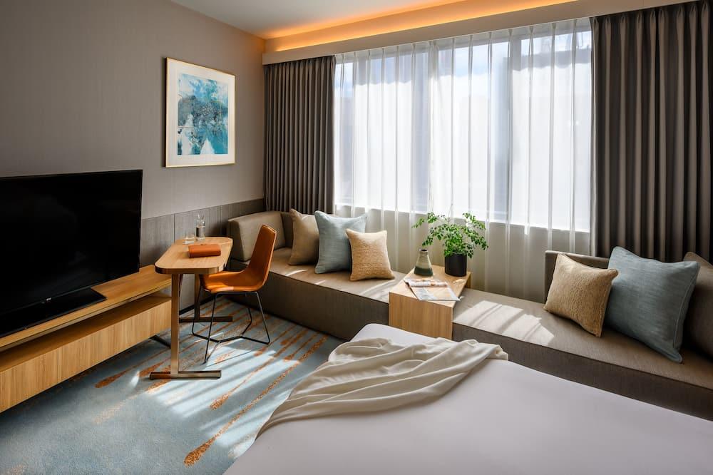 חדר דה-לוקס, מיטת קינג - אזור מגורים