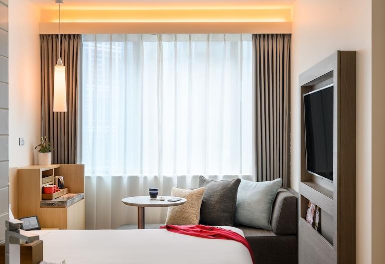 墨爾本中心宜必思酒店, 墨爾本, 高級客房, 1 張加大雙人床及 1 張梳化床, 客房