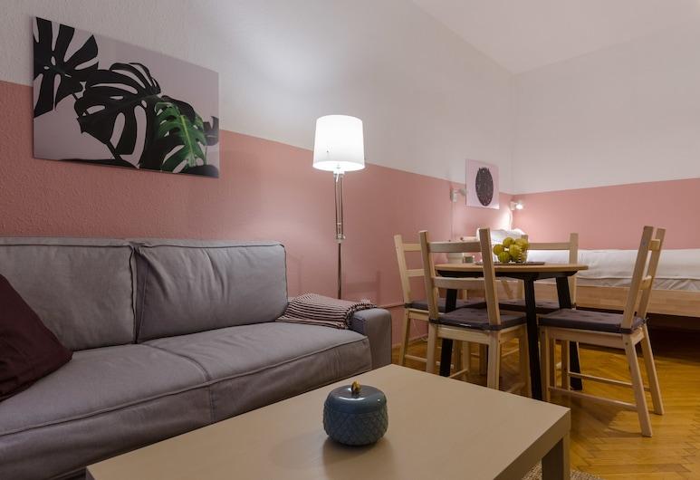Okra Apartment, Budapeszt, Apartament typu Comfort, balkon, widok na dziedziniec, Powierzchnia mieszkalna