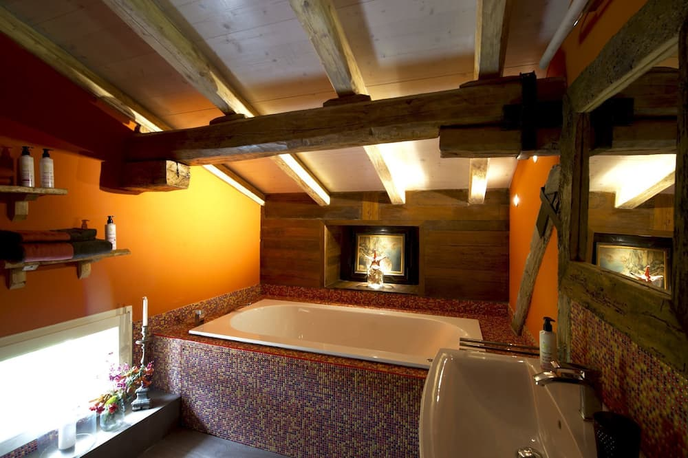 Suite, bañera de hidromasaje (Mansarda) - Cuarto de baño
