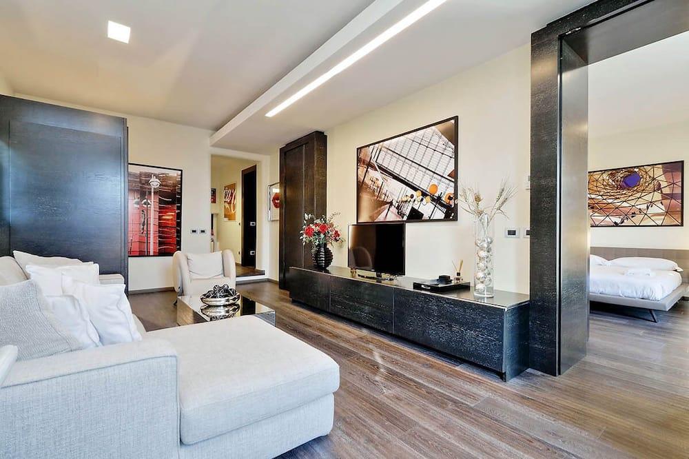 Namas, 2 standartinės dvigulės lovos, vaizdas į miestą (Vittoria Luxury Apartment) - Kambarys