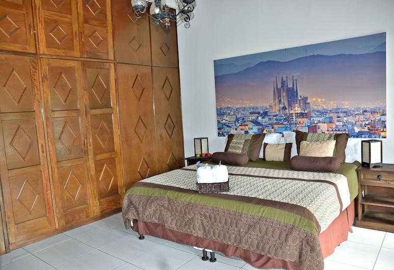 Oh España, Ciudad de Guatemala, Habitación Deluxe, 1 cama King size, baño compartido (Barcelona), Habitación