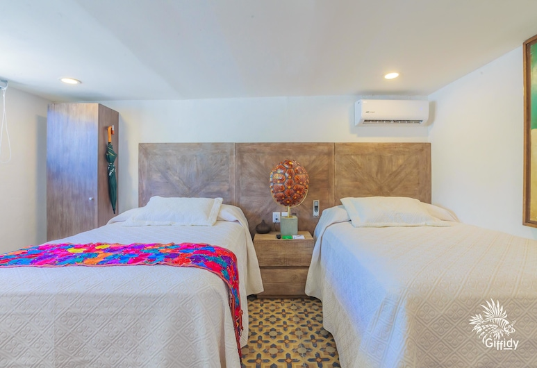 Comfortable Suite at Paradise Suites. Ideal Location, Steps From Playa Norte!, Isla Mujeres, Oda