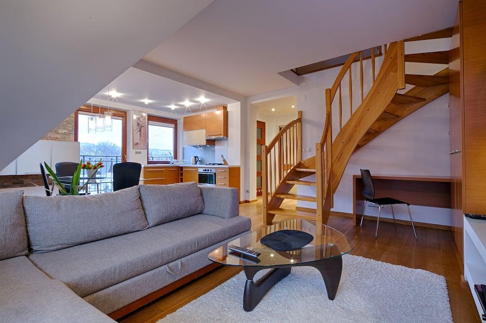 Comfort Apartment, 2 Bedrooms, Non Smoking, Balcony - Living Room