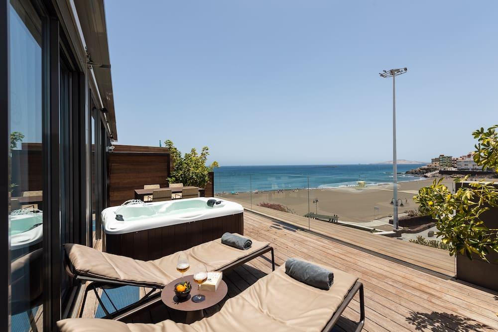 Penthouse, vue plage - Terrasse/Patio