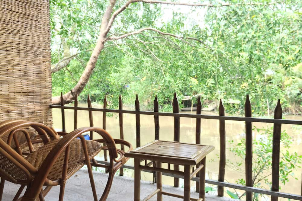 豪華四人房, 1 間臥室, 非吸煙房, 河景 - 露台