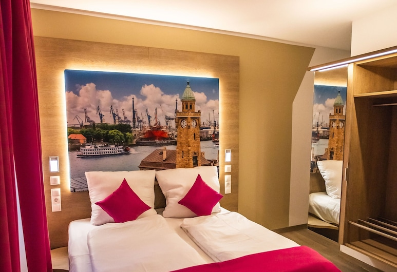 Hotel Luckys Inn GmbH, Hamburg, Comfort Double Room, 1 Bedroom, Private Bathroom, City View, Guest Room