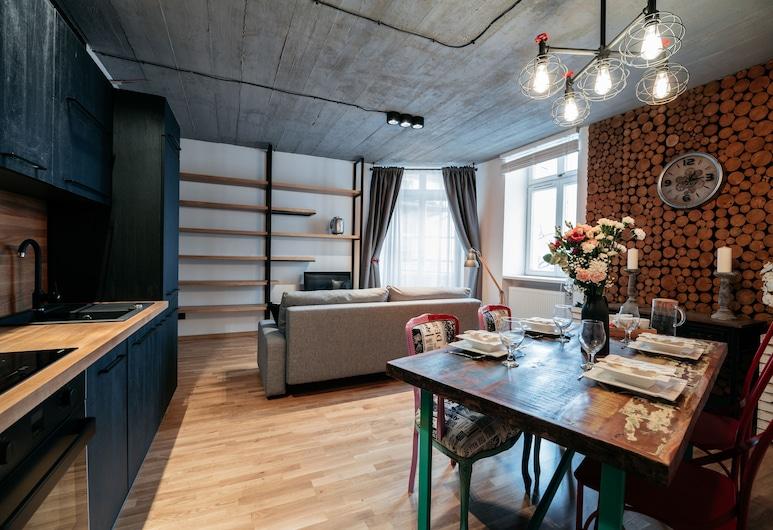 Miodowa 19 by Loft Affair, Krokuva, Išskirtinio tipo apartamentai, Svetainės zona