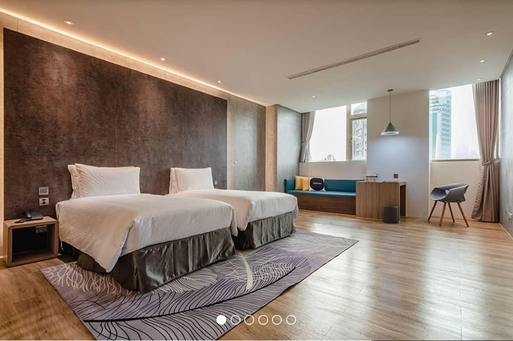 Chambre Premium avec lits jumeaux, 2 lits une place, baignoire à jets (若有加床需求,請事先聯繫) - Vue depuis la chambre