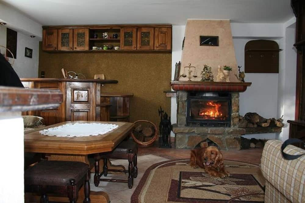 Double Room, 1 Double Bed, Fireplace - Living Area