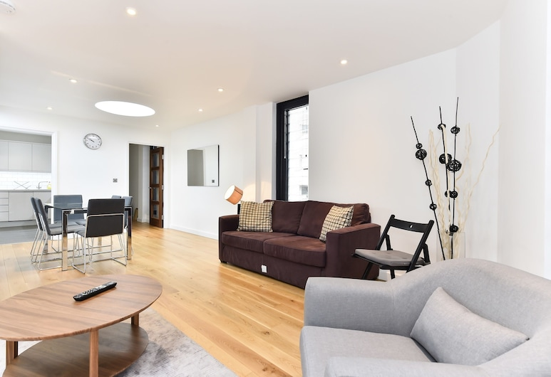Liverpool Street City Apartments, Londýn, Apartmán, 2 ložnice, Obývací prostor