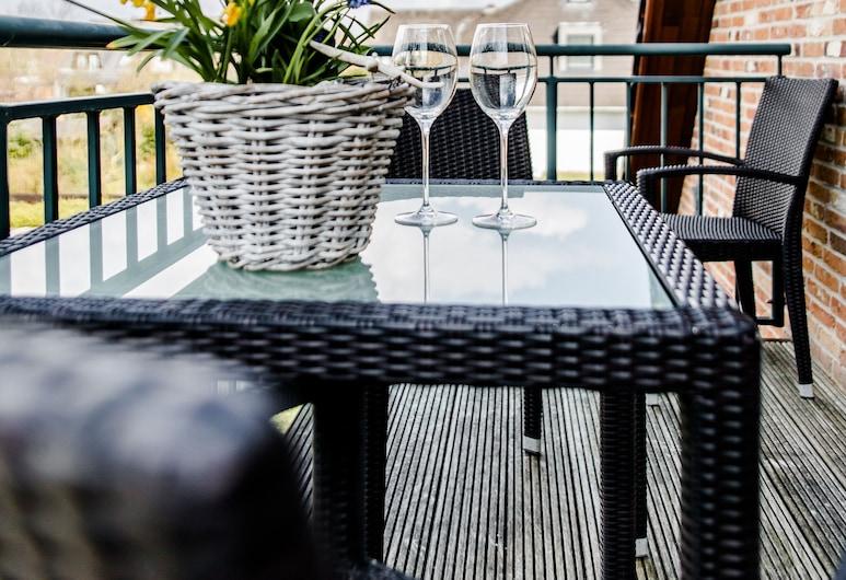 Appartement confortable près de la plage avec une chaise de plage, balcon, WiFi, Wenningstedt-Braderup (Sylt), Balcon