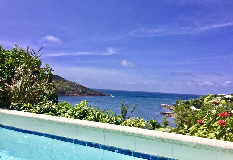 Bougainvilliers Very Private and Charming Villa With Sea View Close to the Beach, St. Barthelemy, Bazén