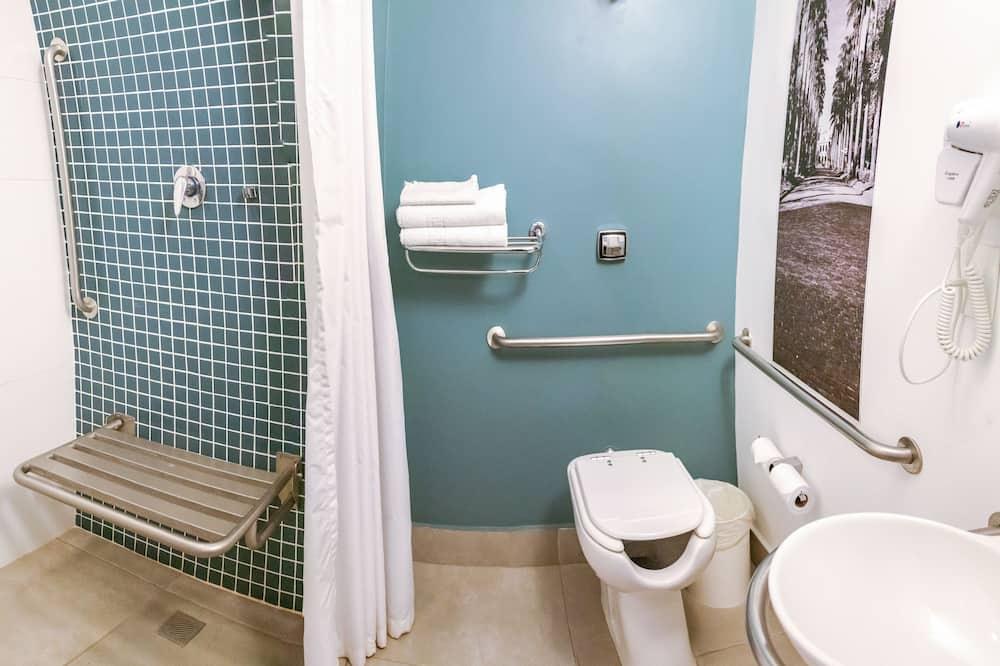 דירה, מיטת קווין, נגישות לנכים, ללא עישון - חדר רחצה