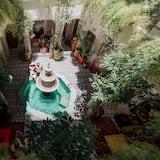 غرفة مزدوجة أو بسريرين منفصلين - منظر للفناء