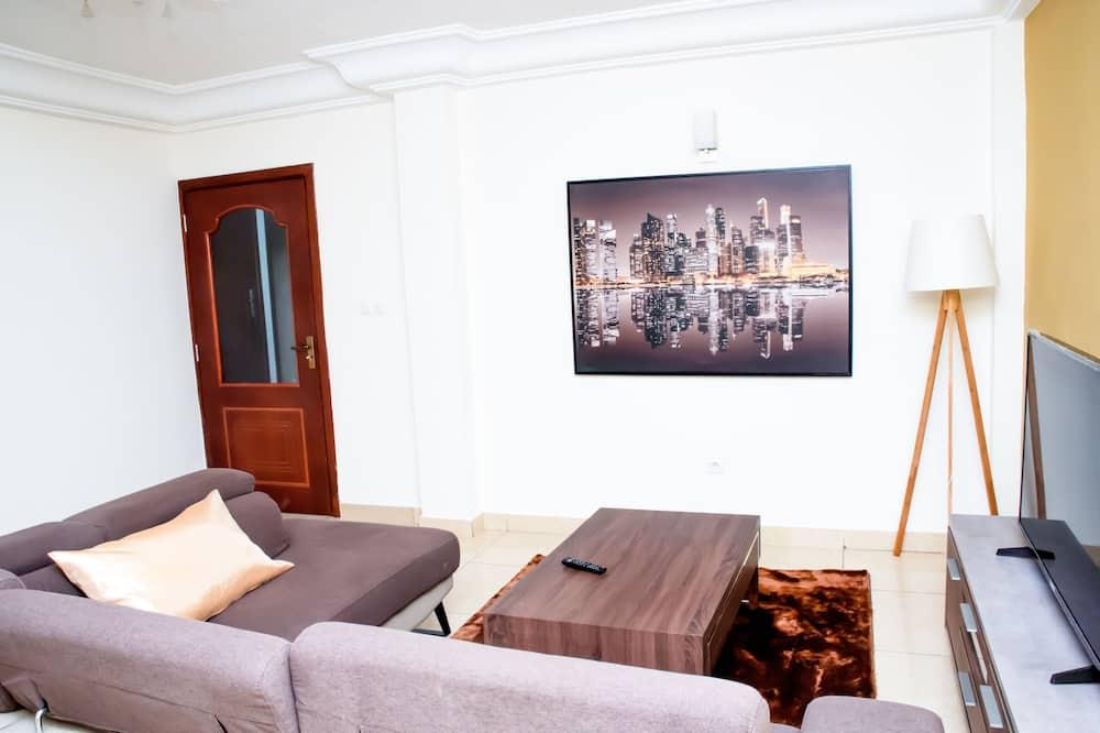 Апартаменты «Делюкс», 2 спальни, вид на город - Зона гостиной