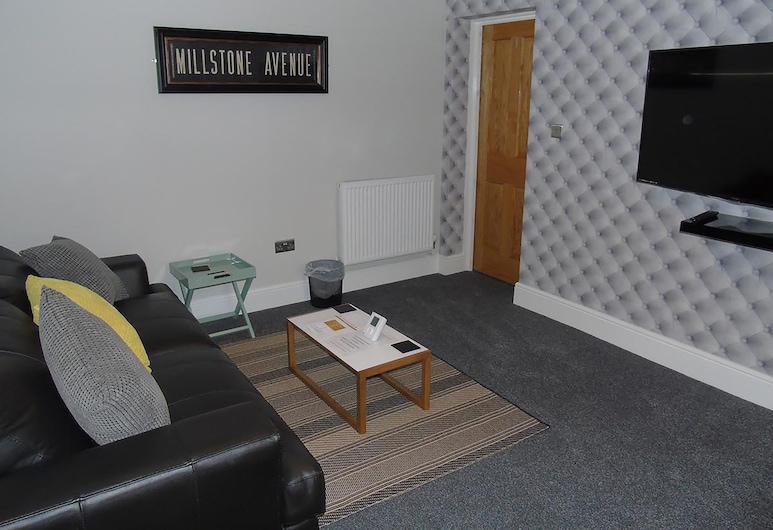 Jeffersons Steelworks Apartments, Barrow-in-Furness, Executive Apartment, 1 Double Bed, Living Area