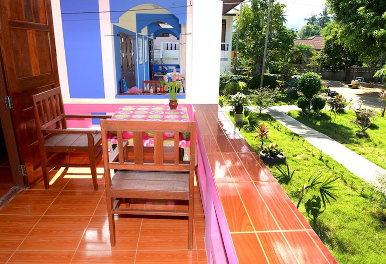 邁南海灘全新日出村酒店, 蘇梅島, 1-Bedroom House, 陽台